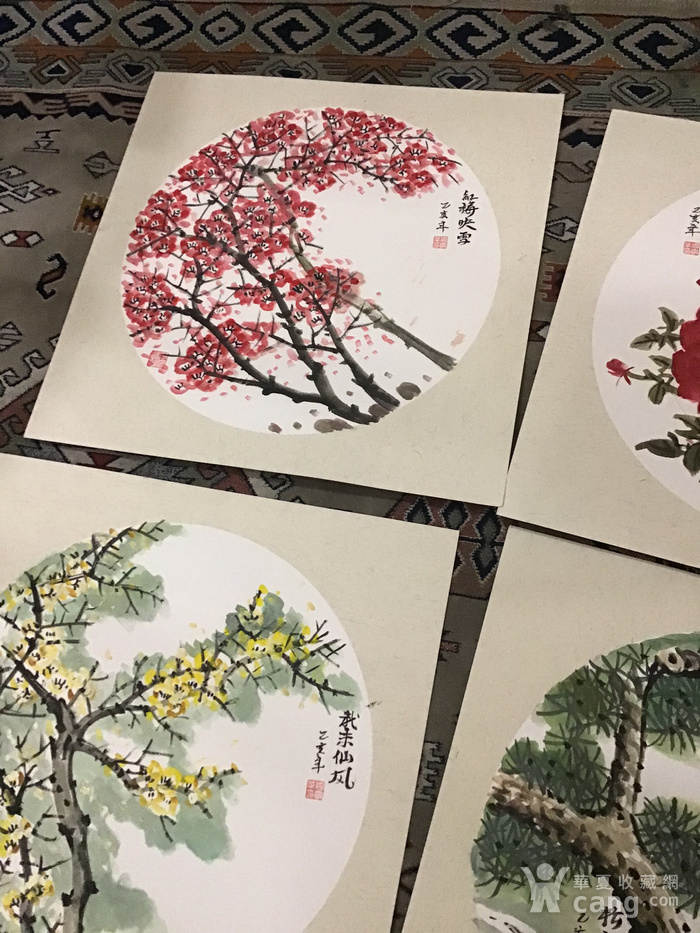 浙江老画家周宇华作品5件图5