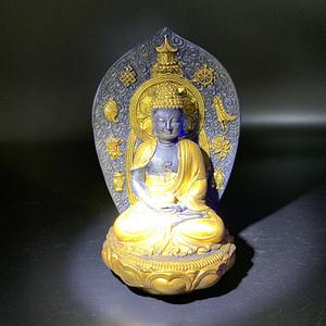 琉璃鎏金佛像