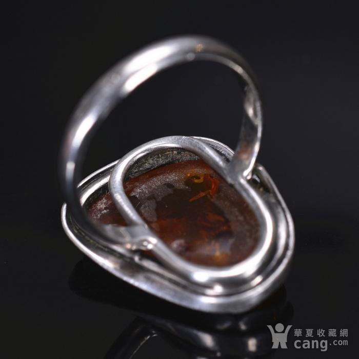 925银 天然琥珀戒指图6
