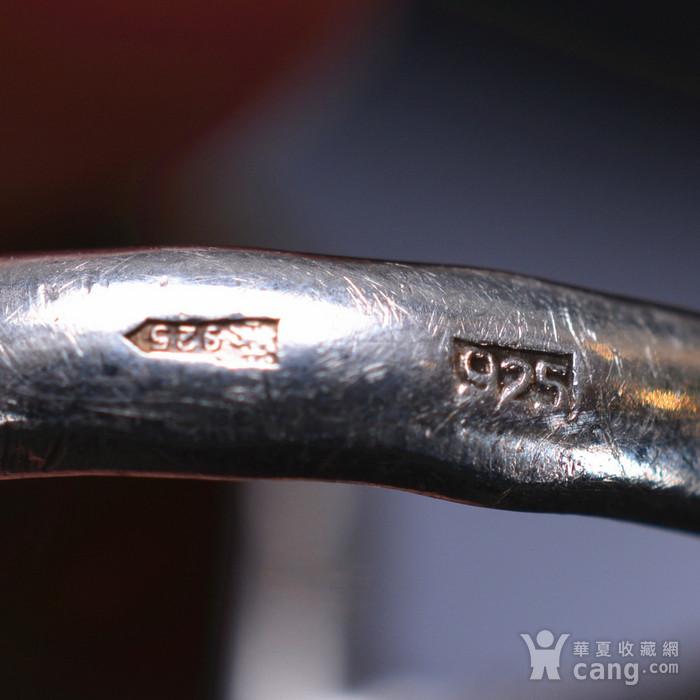 925银 天然琥珀戒指图7