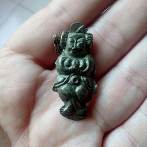 民国早期善财童子银挂件一件