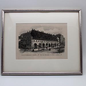 144 19世纪德国木版画 法兰克福Konstabler瞭望站