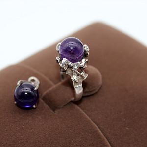 111银镶紫水晶套装