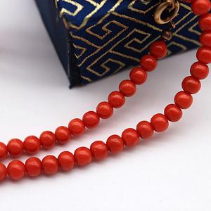 124珊瑚圆珠珠链108
