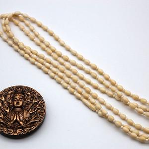 126超长天然材质米珠 隔珠项链