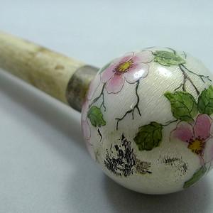 152法国老珐琅伞把 手杖头