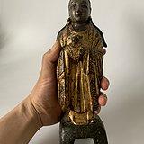 27厘米明代漆金龙女菩萨
