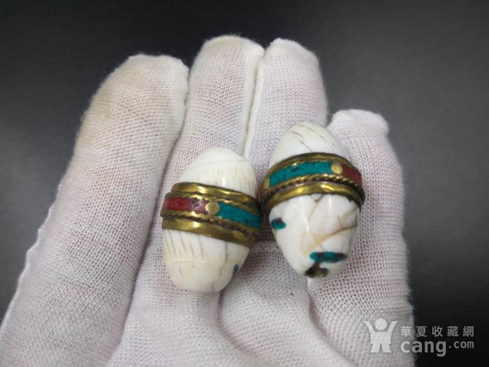 藏传天然老砗古珠图4