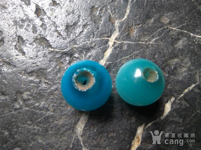 清代 海兰猫眼石对珠 孔对开图2