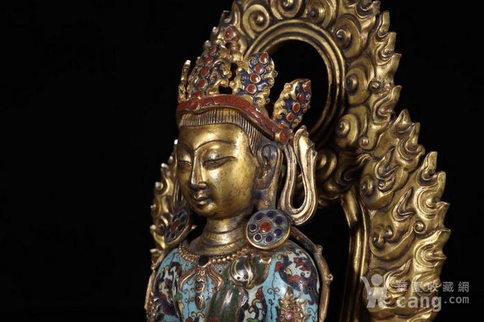 舊藏掐絲琺瑯長壽佛坐像圖8