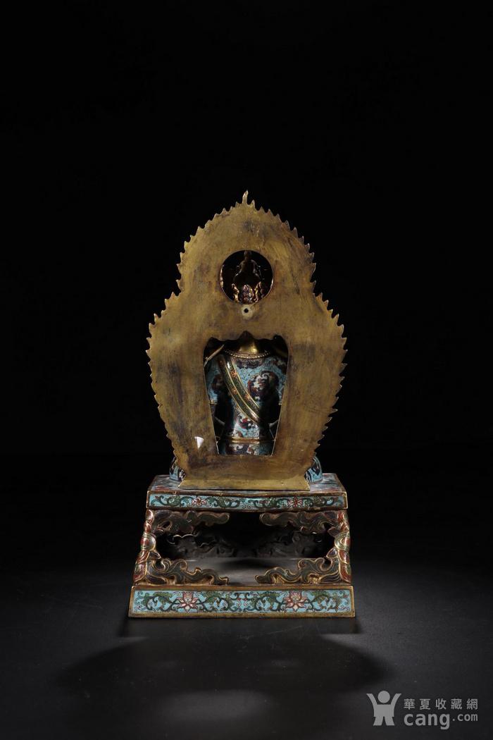 舊藏掐絲琺瑯長壽佛坐像圖7