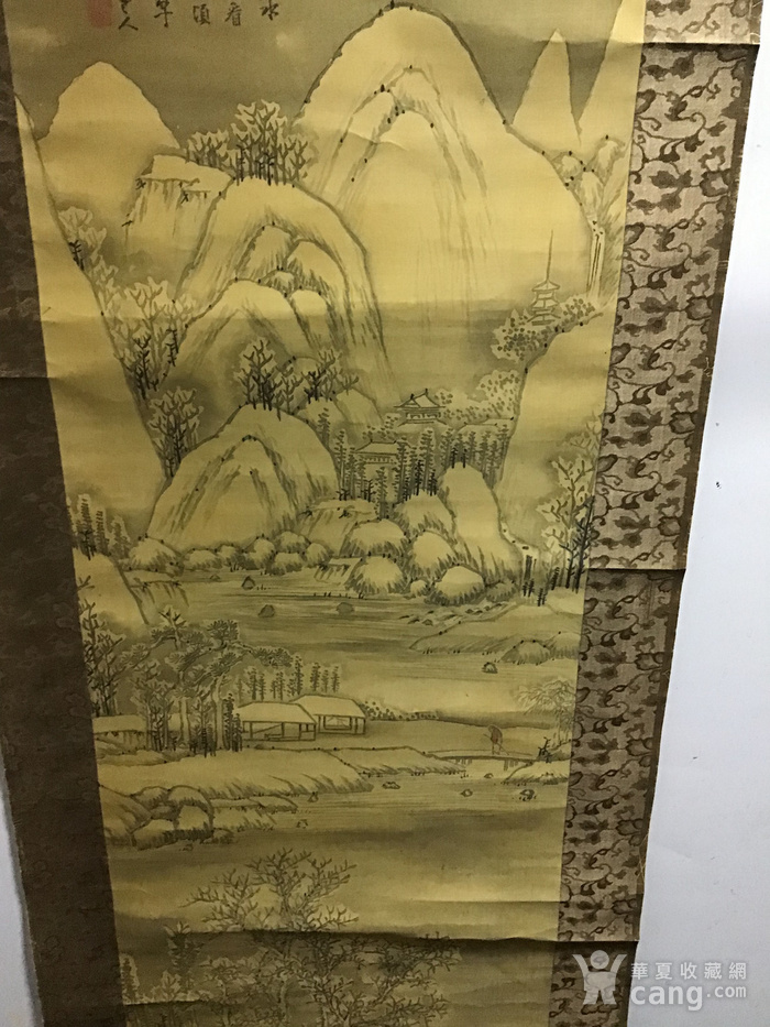 回流清中早期 绢本雪景图12