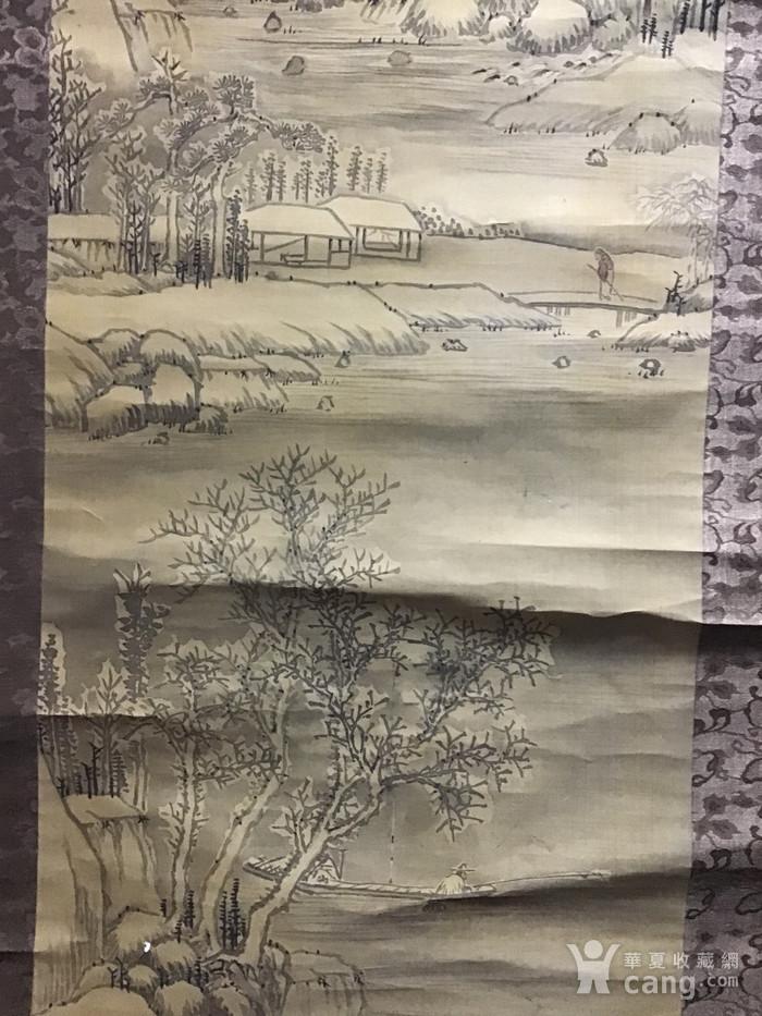 回流清中早期 绢本雪景图1