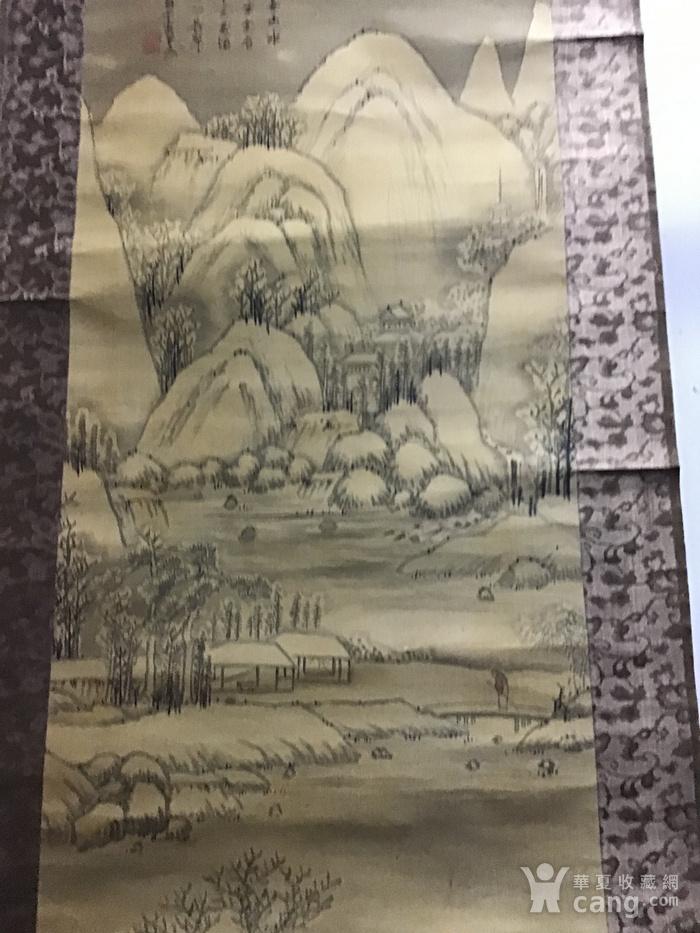 回流清中早期 绢本雪景图8