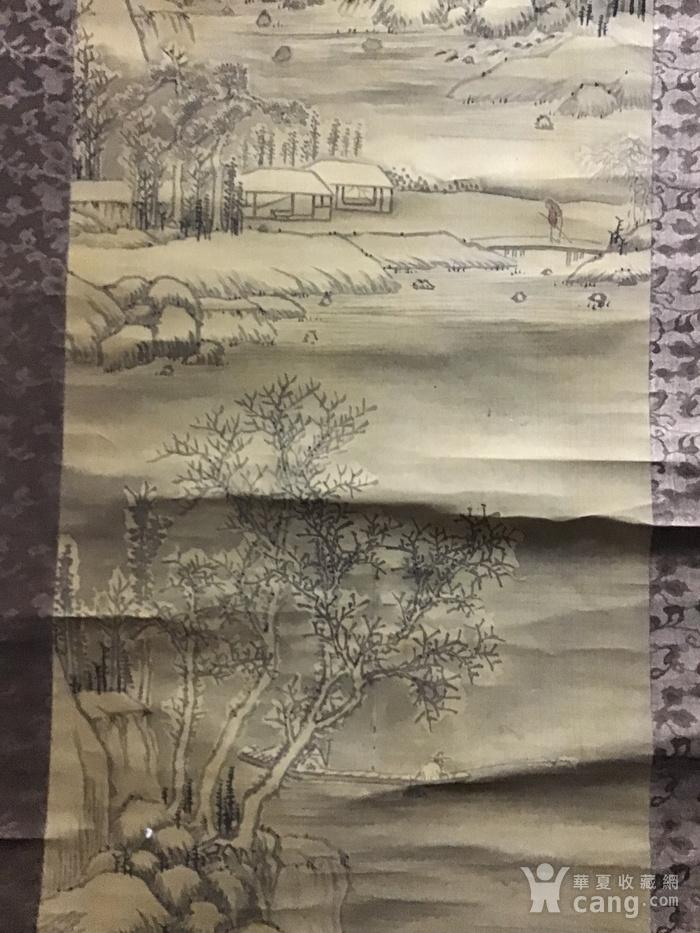 回流清中早期 绢本雪景图6
