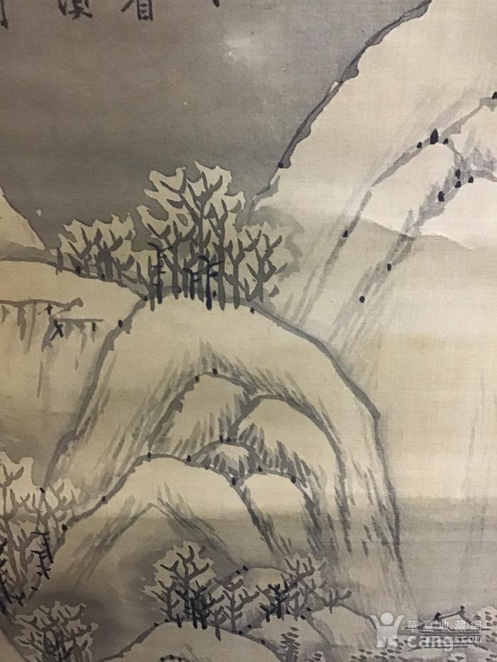 回流清中早期 绢本雪景图10