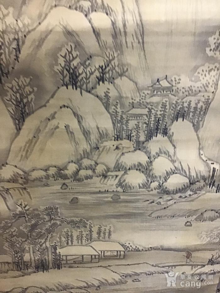 回流清中早期 绢本雪景图3