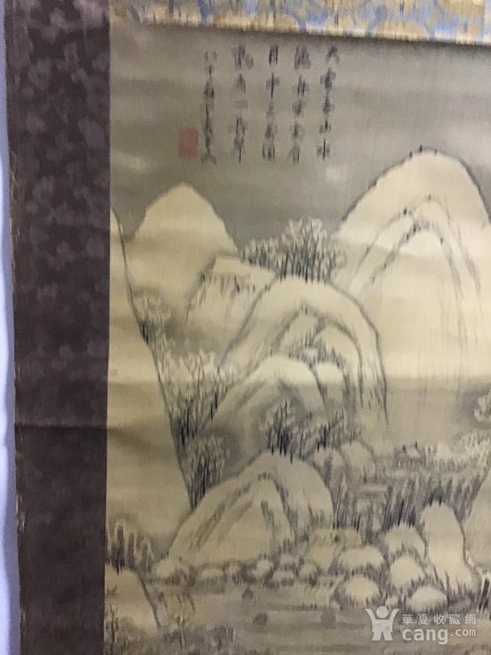回流清中早期 绢本雪景图4