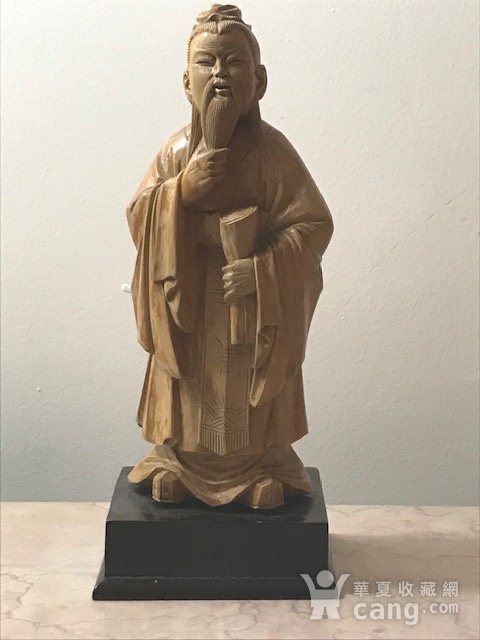 9005 黄杨木雕老子像图1