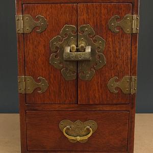 红木包铜文房大箱