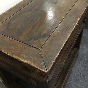 民国时期榉木长条板凳