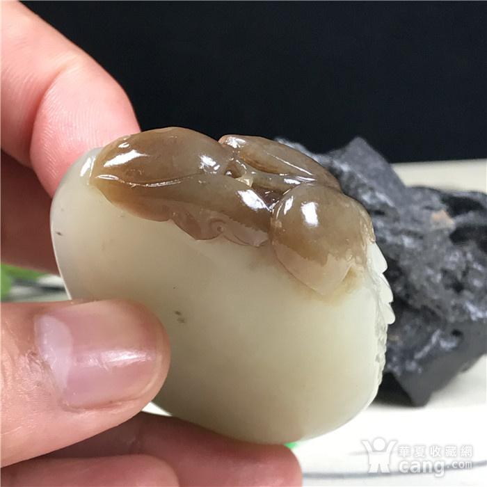 和田玉 糖料 福寿双瓜图5