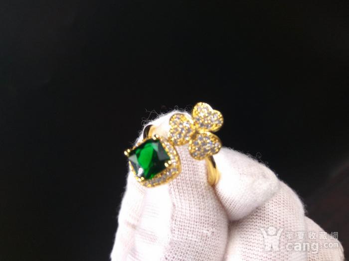 祖母绿宝k金指环图1