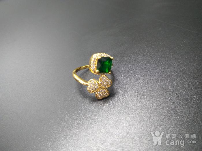 祖母绿宝k金指环图3
