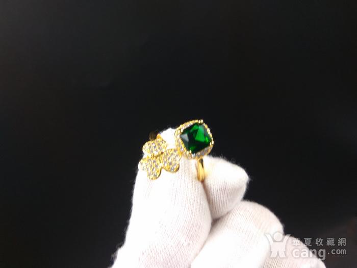 祖母绿宝k金指环图7