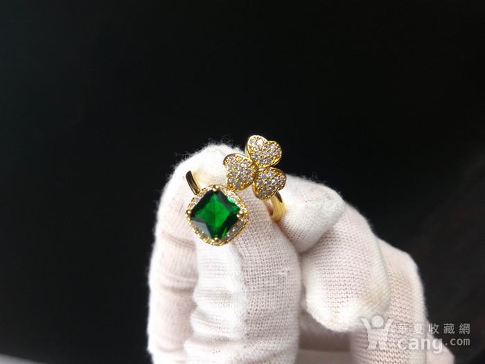 祖母绿宝k金指环图8