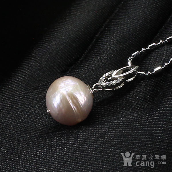 天然巴洛克珍珠吊坠 银镶嵌5912图5