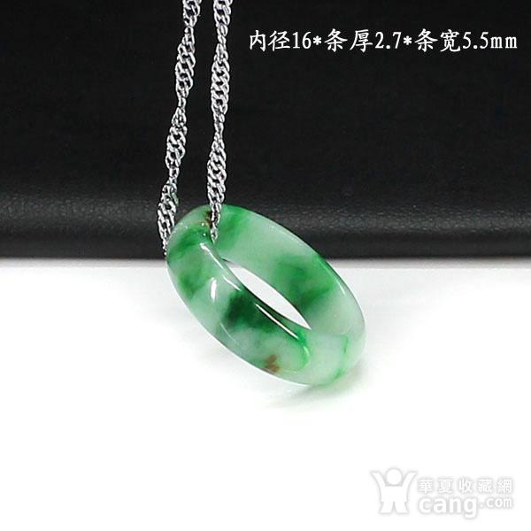 翠绿翡翠尾戒指环吊坠4511图1