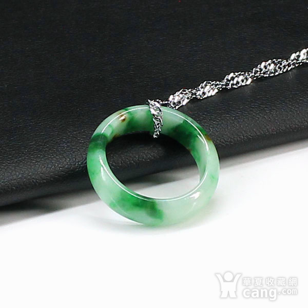 翠绿翡翠尾戒指环吊坠4511图6