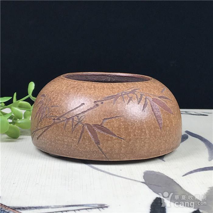 日本回流 紫砂 文玩水盂图1