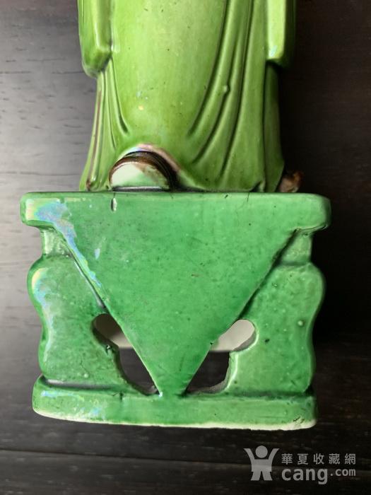民国 素三彩财神塑像图7