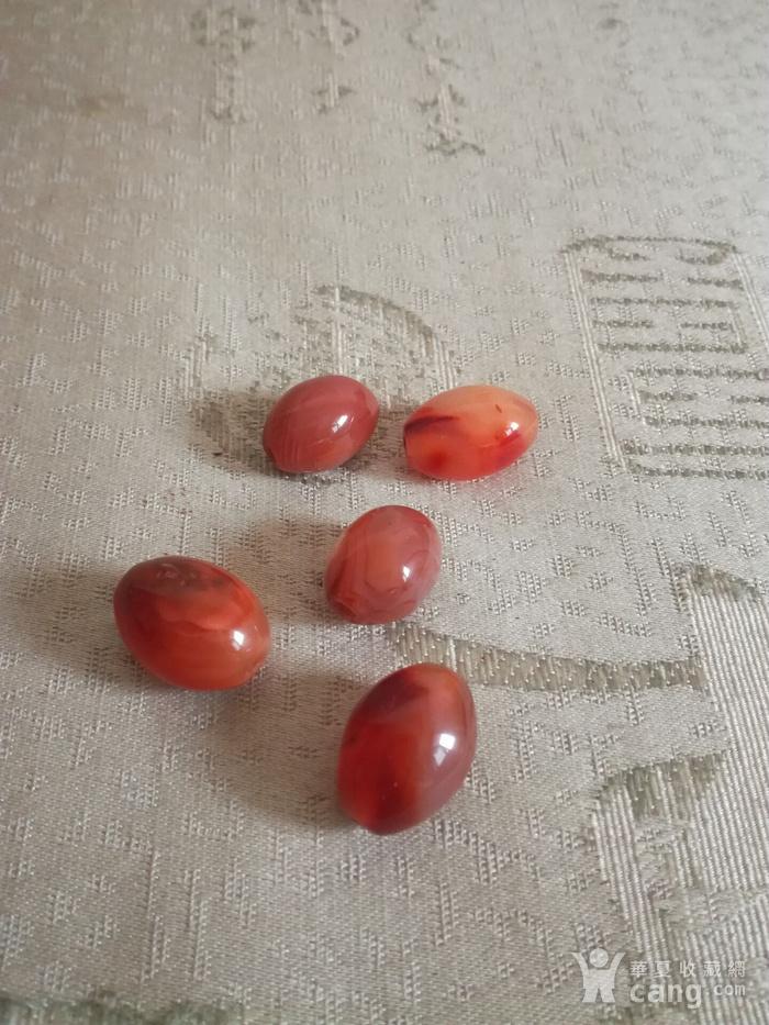 老玛瑙橄榄珠子5颗图5