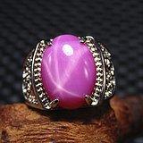 回流精品 星光宝石 戒面配纯银戒托戒指