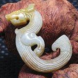 清和田玉绳纹如意纹饰 出郭龙壁 包浆老厚 沁色厚重