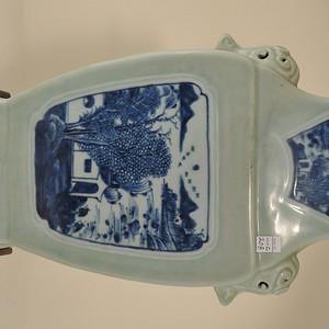 19世纪中国青瓷地面瓷花瓶