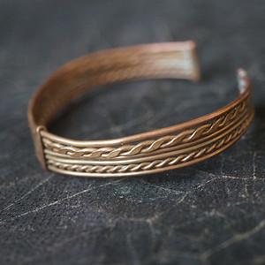 歐洲老銅絞絲手鐲