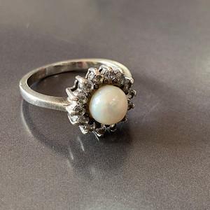 8029欧洲回流天然珍珠银戒指