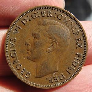 1950年英国1 2便士硬币