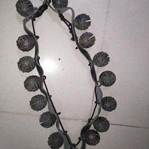 清末超大型老铜器铃铛虎头铃一共16个单个直径6.5厘米
